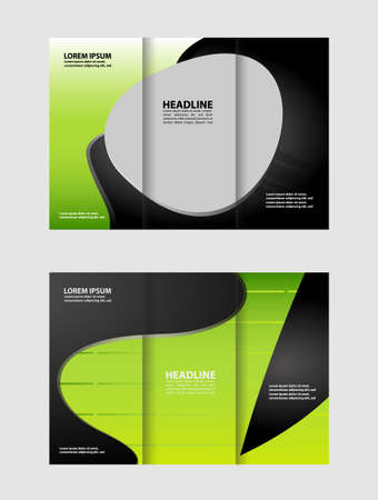 TriFold Brochure Empty Vector Print Design Template TriFold