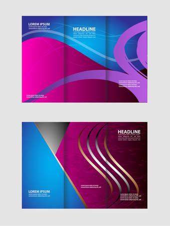 invitation barcode: Tri-Fold Corporate Business Store Brochure Design Mock up &