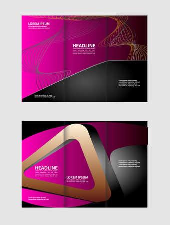 tri fold: tri fold brochure Illustration