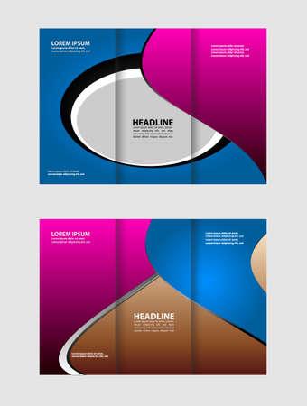 book spreads: Tri Fold Brochure Purple violet