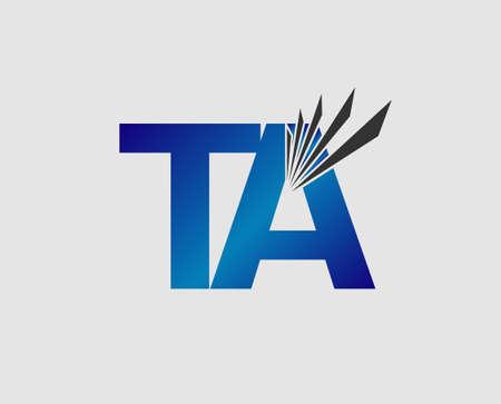 i t: Letter I, t and a vector Illustration