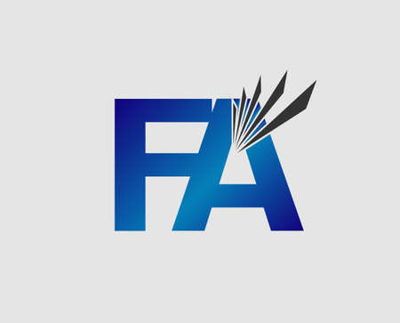 linked: Letter FA linked company Illustration