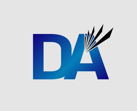 linked: Letter DA linked company Illustration