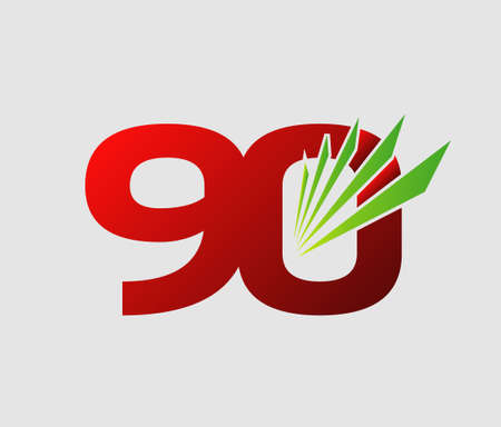 90 years: 90 years Anniversary celebration vector