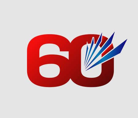 60: 60 years anniversary Template Illustration