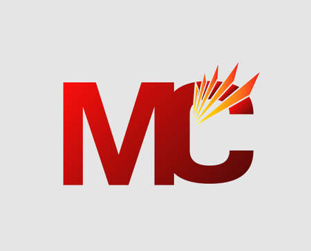 Letter M and C vector