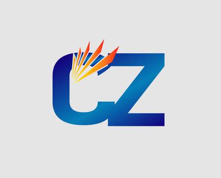 cz: cz Letter Illustration