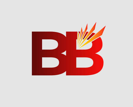 bb: Elegant black and gold alphabet letter B and B. BB Vector illustration