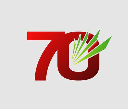 70 years: Template 70 years anniversary Illustration