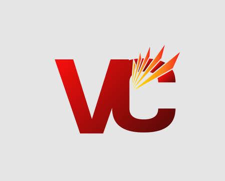 Letter V and C vector Illustration
