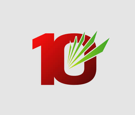 10 years: Template 10th anniversary 10 years anniversary Illustration