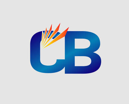 bb: Elegant black and gold alphabet letter C and B. BB Vector illustration Illustration