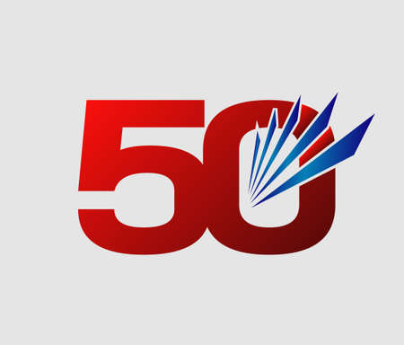 50: 50 years anniversary Template