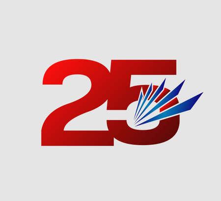 25: Template 25th anniversary 25 years anniversary