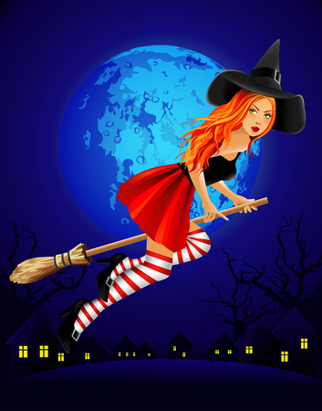 red haired: witch Illustration