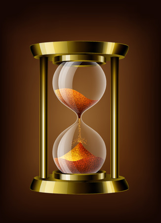 Transparent vector sand clock 免版税图像 - 39691036