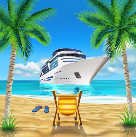 Tropical beach Illustration