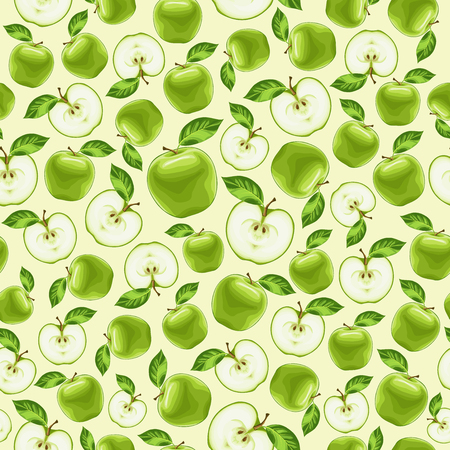green apples seamless pattern