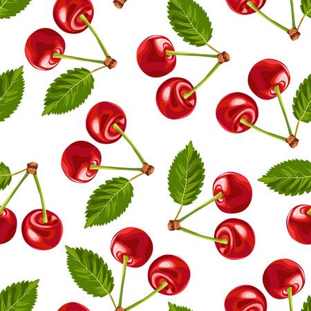 cherry seamless pattern Çizim