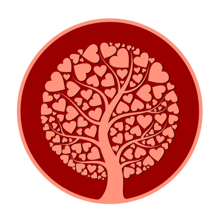 heart tree 矢量图像