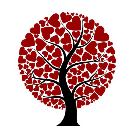 floral heart: heart tree Illustration