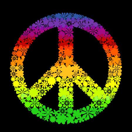 simbolo della pace: simbolo di pace vettore a base di fiori