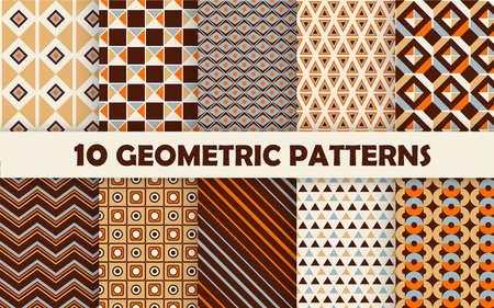 Set of geometric seamless pattern. 免版税图像 - 150937997
