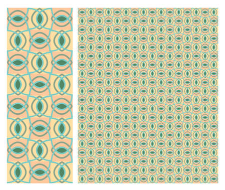 Vector - Floral Seamless decorative pattern stock vector, use for tiled background, Colored