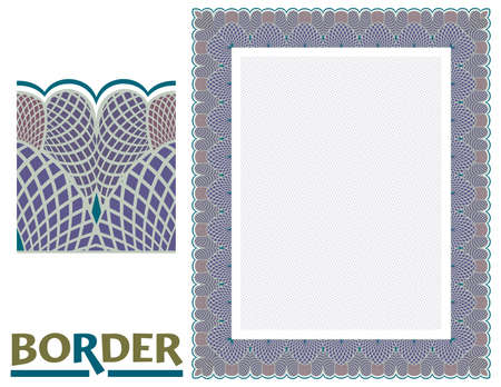 decoration Borders - Tiled frame in plant leaves and flowers Framework Decorative Elegant ornamental style
