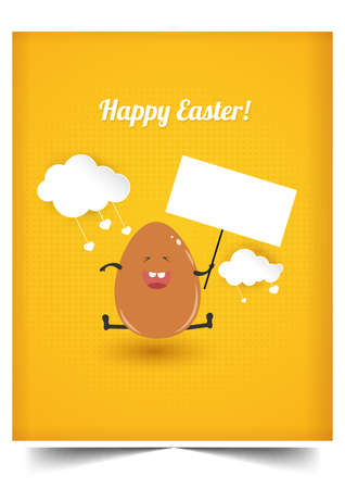 Happy holiday Easter day card vintage egg with flowers vector illustration graphic design Foto de archivo - 134430625