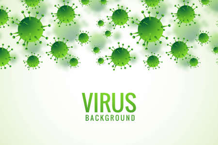 Bacteria or virus infection flu background Vectores