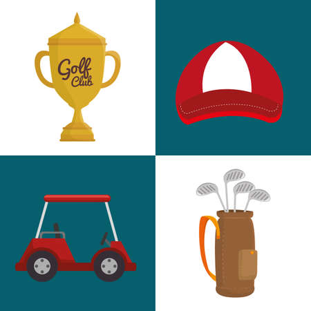 Sport golf club graphic design, vector illustration Иллюстрация