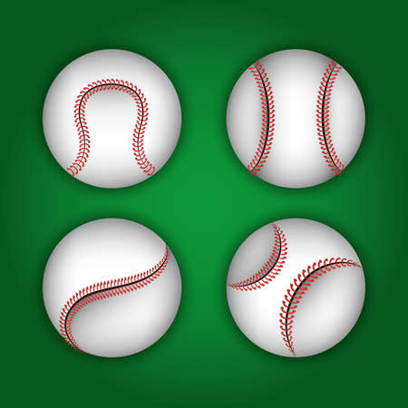 Baseball sport design over green background, vector illustration.