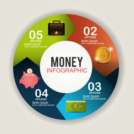 Money and business graphic design, vector illustration eps 10.