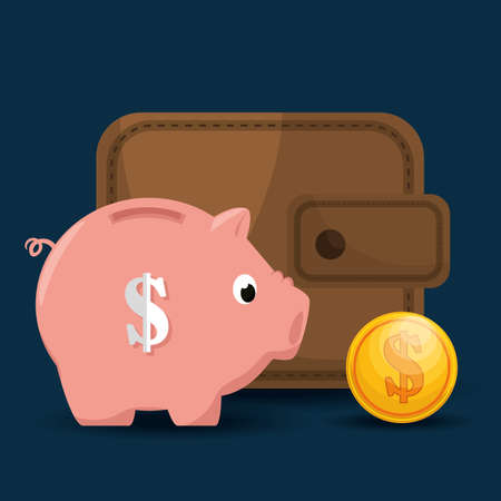 savings and money concept vector illustration design