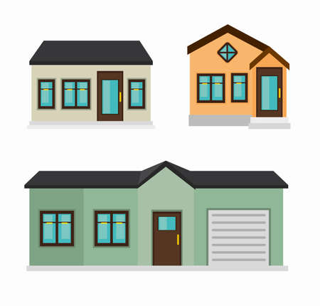 beautiful mansion isolated icon design, vector illustration  graphic  일러스트