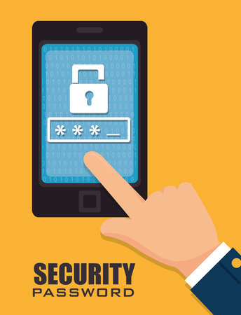 security system technology icon vector illustration eps 10