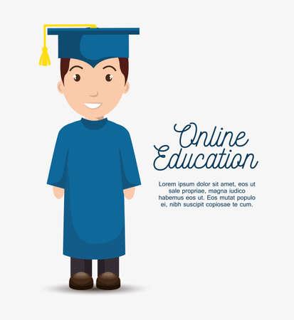 online education concept icon vector illustration design Çizim