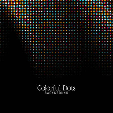 Modern colorful dots decorative background
