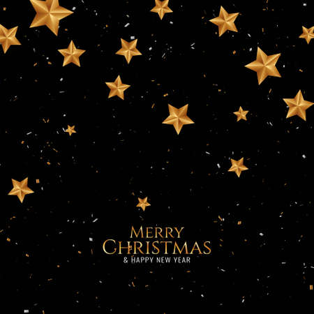 Merry Christmas elegant beautiful background vector