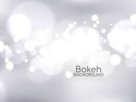 Abstract stylish bokeh background vector