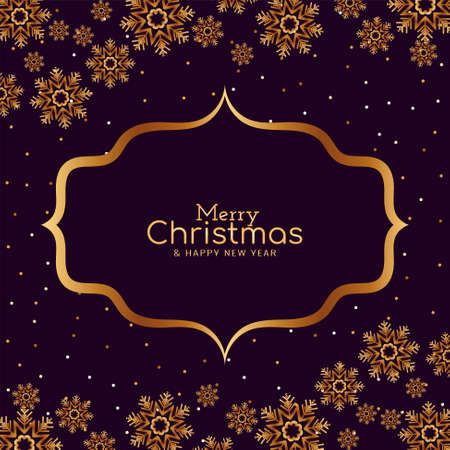 Merry Christmas golden snowflakes background vector 일러스트