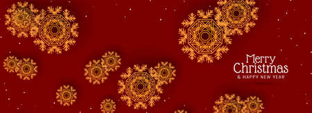 Merry Christmas beautiful festive background vector