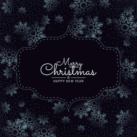 Merry Christmas snowflakes background vector