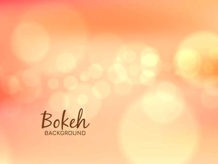 Abstract glowing bokeh background vector
