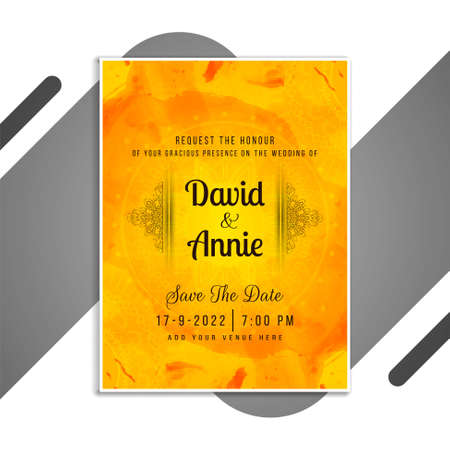 Abstract wedding Invitation stylish card template