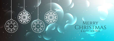 Abstract Merry Christmas decorative background vector 일러스트