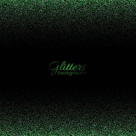 Decorative green glitters sparkle background vector 일러스트