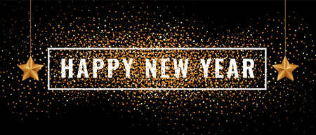 Happy new year 2020 banner vector