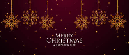 Merry Christmas decorative festive banner design vector
